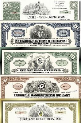 Geschenkset Wirtschaft und Industrie - USA Nr.14 - 5 div. Papiere