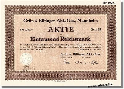Grün & Bilfinger AG, Mannheim