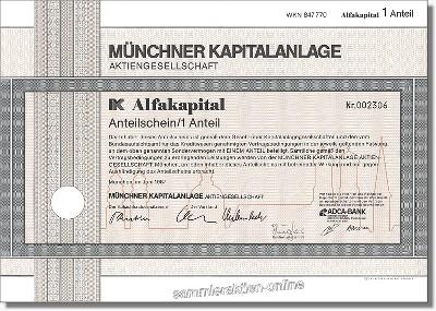 Münchner Kapitalanlage Aktiengesellschaft