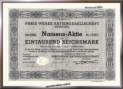 Phrix-Werke AG