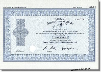 Secthaus Georg Geiling & Co. Aktiengesellschaft