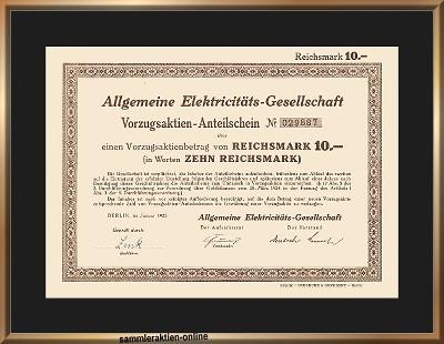 AEG Allgemeine Elektricitäts-Gesellschaft