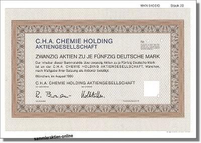 C.H.A. Chemie Holding AG