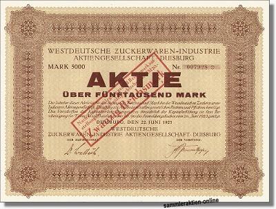 Westdeutsche Zuckerwaren-Industrie Aktiengesellschaft