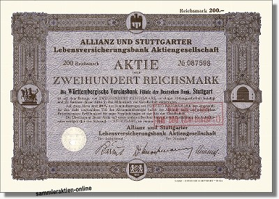 Allianz und Stuttgarter Lebensversicherungsbank AG