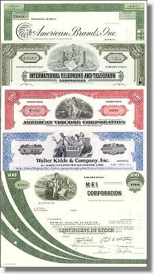 Geschenkset Wirtschaft und Industrie - USA Nr.10 - 5 div. Papiere