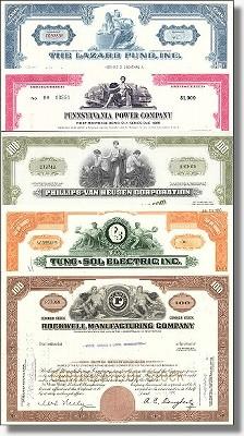 Geschenkset Wirtschaft und Industrie - USA Nr.02 - 5 div. Papiere