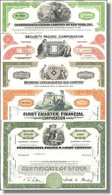 Geschenkset Wirtschaft und Industrie - USA Nr.03 - 5 div. Papiere