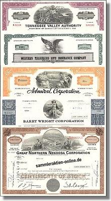 Geschenkset Wirtschaft und Industrie - USA Nr.04 - 5 div. Papiere