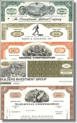 Geschenkset Wirtschaft und Industrie - USA Nr.06 - 5 div. Papiere