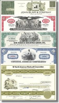 Geschenkset Wirtschaft und Industrie - USA Nr.08 - 5 div. Papiere