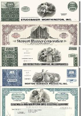 Geschenkset Wirtschaft und Industrie - USA Nr.09 - 5 div. Papiere