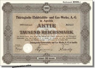 Thüringische Elektrizits- und Gas-Werke AG