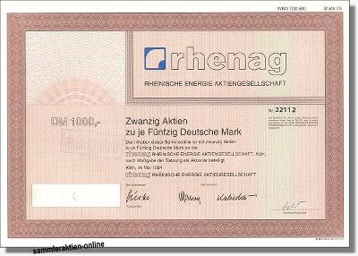 Rheinische Energie AG Rhenag