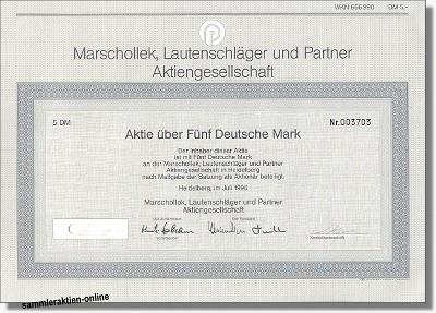MLP, Marschollek, Lautenschläger und Partner AG