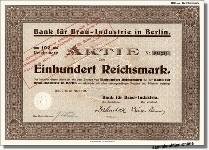Bank für Brau-Industrie in Berlin