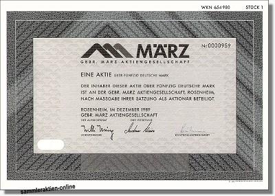 Gebr. März Aktiengesellschaft