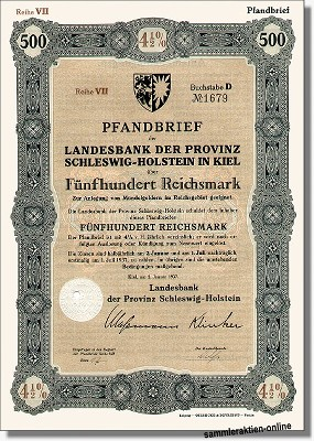 Landesbank der Provinz Schleswig-Holstein - HSH Nordbank