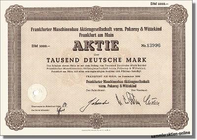Frankfurter Maschinenbau AG - heute Demag Cranes AG