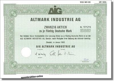 Altmark Industrie AG - AIG