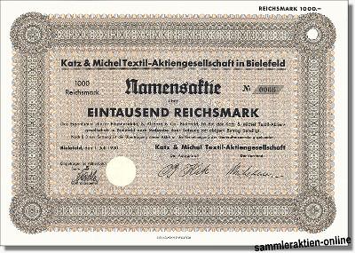 Katz & Michel Textil-Aktiengesellschaft - KATAG