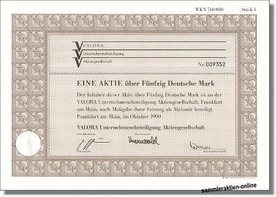 Valora (VVV) Unternehmensbeteiligung Aktiengesellschaft