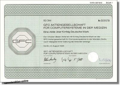 GFC AG für Computersysteme in der Medizin