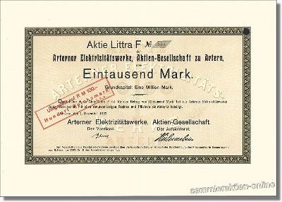 Arterner Elektrizitätswerk Aktien-Gesellschaft
