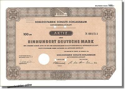 Schloßfabrik Schulte-Schlagbaum AG