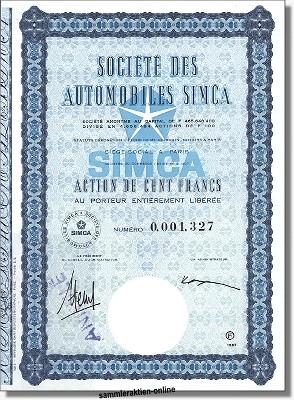 SIMCA - Societe des Automobiles Simca