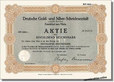 Deutsche Gold- und Silber-Scheideanstalt Degussa