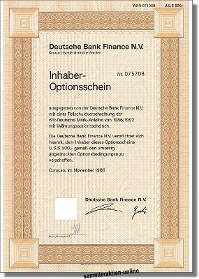 Deutsche Bank Finance