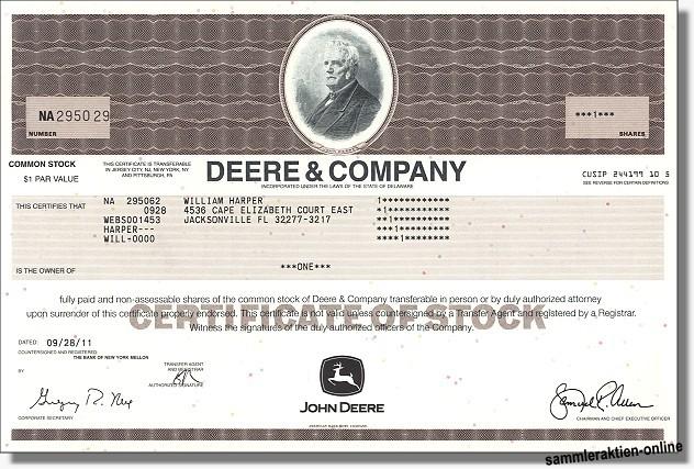 John Deere Aktien