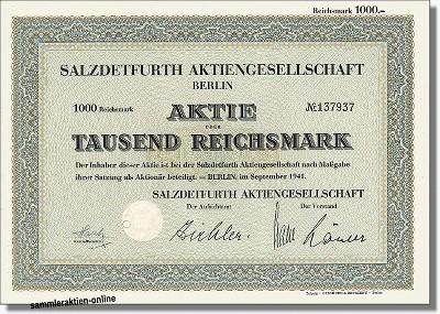 Salzdetfurth Aktiengesellschaft - Kali und Salz
