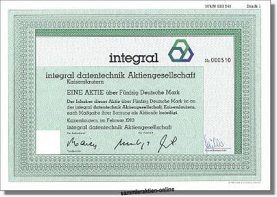 Integral Datentechnik Aktiengesellschaft