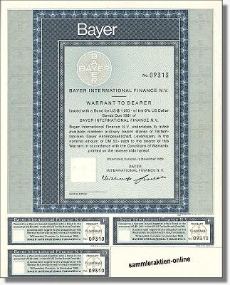 Bayer AG - Bayer International Finance N.V.