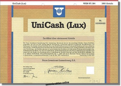 Union Investment Luxembourg S.A. - Unicash