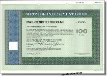 Metzler Investment GmbH - RWS-Rendite