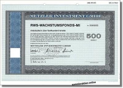 Metzler Investment GmbH - RWS-Wachstum