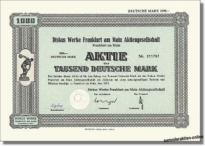 Diskus Werke Frankfurt am Main Aktiengesellschaft