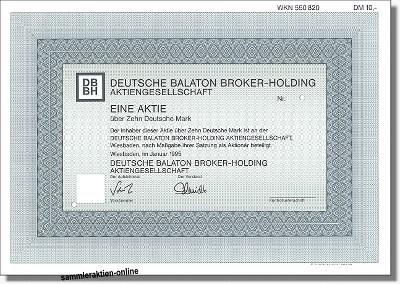 Deutsche Balaton Broker Holding Aktiengesellschaft