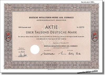 Deutsche Metalltüren-Werke Aug. Schwarze AG