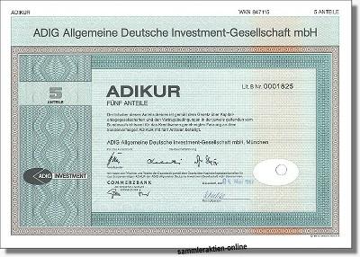 Adig - Allgemeine Deutsche Investment Gesellschaft