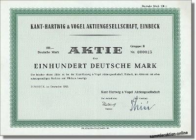 Kant-Hartwig & Vogel Aktiengesellschaft