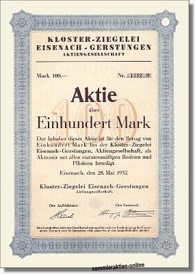 Kloster-Ziegelei Eisenach-Gerstungen AG