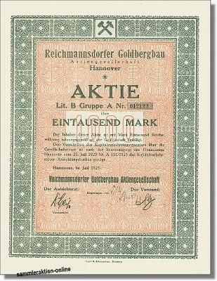 Reichmannsdorfer Goldbergbau Aktiengesellschaft