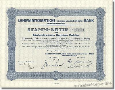 Landwirtschaftliche - vormals landschaftliche - Bank AG