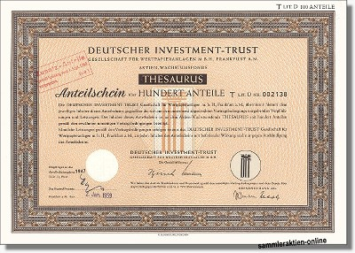 Deutscher Investment Trust - DIT Thesaurus