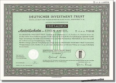 Deutscher Investment Trust - DIT Thesaurus