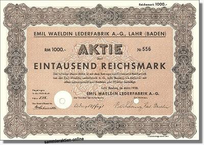 Emil Waeldin Lederfabrik